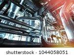 industrial zone  steel... | Shutterstock . vector #1044058051