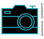 photographic camera isolated... | Shutterstock .eps vector #1044060475