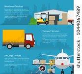 set of horizontal cargo... | Shutterstock .eps vector #1044067489