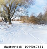 winter landscape with snow...   Shutterstock . vector #1044067651
