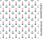 sea seamless pattern.red  blue... | Shutterstock .eps vector #1044070267