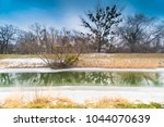 winter or spring landscape.... | Shutterstock . vector #1044070639
