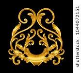 gold baroque vintage frame... | Shutterstock .eps vector #1044072151