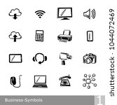 vector line icons set of... | Shutterstock .eps vector #1044072469