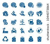 set of ecology icons. vector... | Shutterstock .eps vector #1044073864