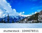 view from hamta pass on the pir ... | Shutterstock . vector #1044078511