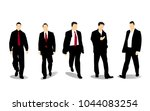 businessman character set | Shutterstock .eps vector #1044083254