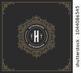 ornament monogram logo design...   Shutterstock .eps vector #1044086545