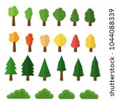 cartoon trees and bushes pack... | Shutterstock .eps vector #1044088339