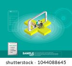 isometric smart mobile health... | Shutterstock .eps vector #1044088645