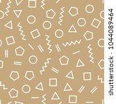 memphis style geometric... | Shutterstock .eps vector #1044089464