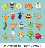 funny best friends food... | Shutterstock .eps vector #1044089827