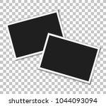 vintage photo frames on...   Shutterstock .eps vector #1044093094
