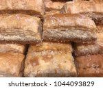 close up of sweet baklava ... | Shutterstock . vector #1044093829