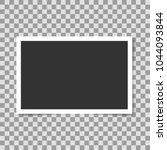 photo frame on transparent... | Shutterstock .eps vector #1044093844