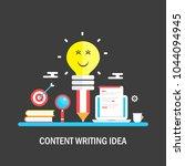 content writing idea   seo... | Shutterstock .eps vector #1044094945