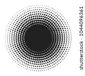black abstract halftone circle... | Shutterstock .eps vector #1044096361
