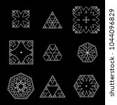 geometric objects set | Shutterstock .eps vector #1044096829