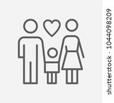family icon line symbol....