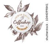 coffeshop round paper emblem... | Shutterstock .eps vector #1044099841