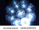 shiny led lights of a... | Shutterstock . vector #1044100435