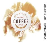 coffee paper emblem over... | Shutterstock .eps vector #1044101905