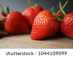 fresh strawberry and blank... | Shutterstock . vector #1044109099