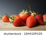 fresh strawberry and blank... | Shutterstock . vector #1044109105