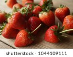 fresh strawberry and blank... | Shutterstock . vector #1044109111