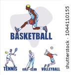 sport background. basketball ... | Shutterstock .eps vector #1044110155