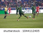 Small photo of Harrison, NJ - March 10, 2018: Larrys Mabiala (33) of Portland Timbers controls ball during regular MLS game against New York Red Bulls at Red Bull Arena Red Bulls won 4 - 0