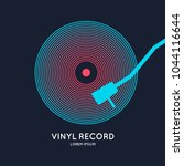 poster of the vinyl record.... | Shutterstock .eps vector #1044116644