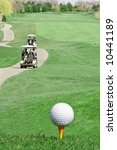Golf Course Overhead View - stock photo