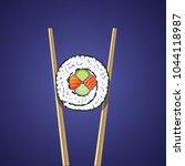 illustration of sushi roll... | Shutterstock .eps vector #1044118987