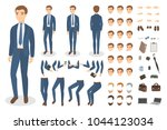 businessman character set with... | Shutterstock .eps vector #1044123034