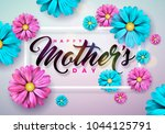 happy mothers day greeting card ... | Shutterstock .eps vector #1044125791