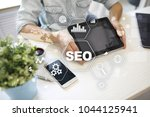 seo. search engine optimization.... | Shutterstock . vector #1044125941