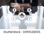 human resource management  hr ... | Shutterstock . vector #1044126031