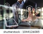 e commerce. internet shopping....   Shutterstock . vector #1044126085