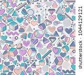 love 90s 80s geometric seamless ...   Shutterstock .eps vector #1044129121