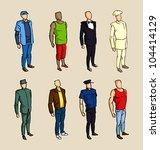 info graphic man sketch elements | Shutterstock .eps vector #104414129