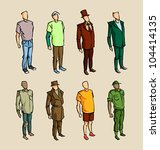 info graphic man sketch elements | Shutterstock .eps vector #104414135
