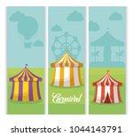 carnival circus design | Shutterstock .eps vector #1044143791