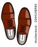fashionable men's shoes vector... | Shutterstock .eps vector #1044148984