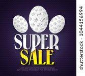 easter sale banner background... | Shutterstock .eps vector #1044156994