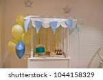 festive children's table  cake  ... | Shutterstock . vector #1044158329