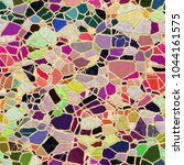 colorful seamless mosaic texture | Shutterstock . vector #1044161575