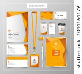 corporate identity template... | Shutterstock .eps vector #1044164179