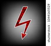 electric lighting bolt icon....   Shutterstock .eps vector #1044165529