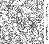 hand drawn seamless pattern...   Shutterstock .eps vector #1044167929
